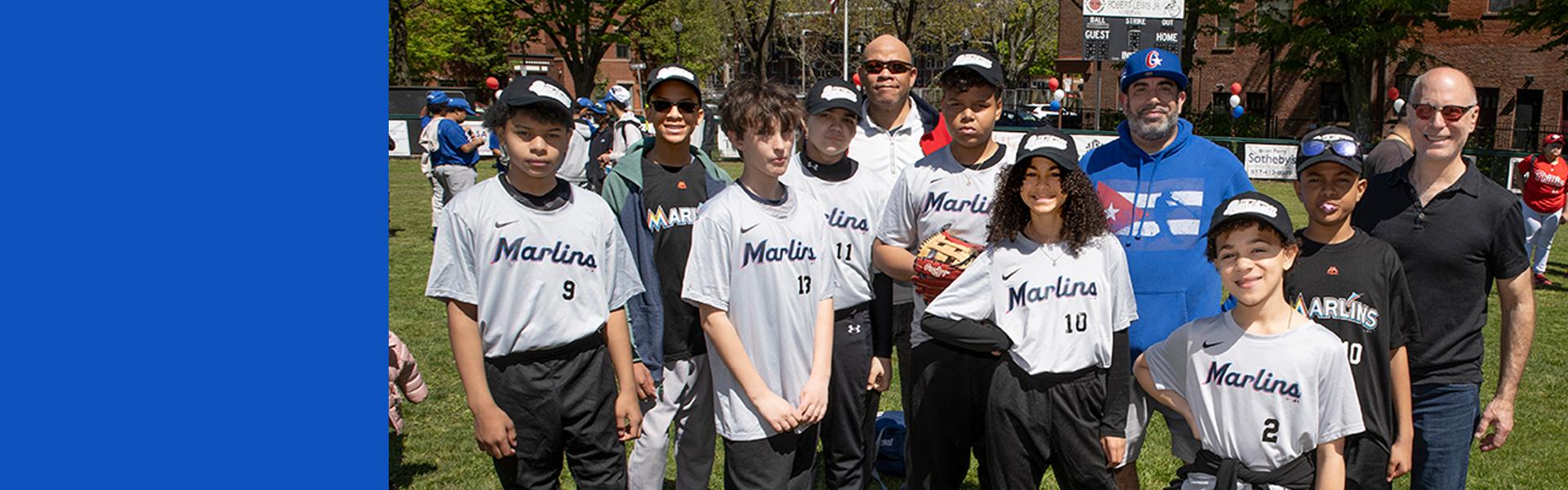 baseball on foul line